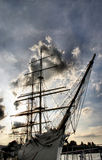Giant sailboat.  royalty free stock images