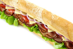 Giant Salad Sub Royalty Free Stock Photos
