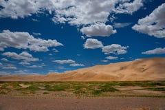 Giant sand dunes of the Gobi desert stock photos