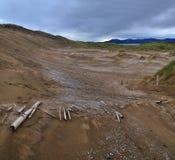 Giant sand dunes near Strandhill Stock Images
