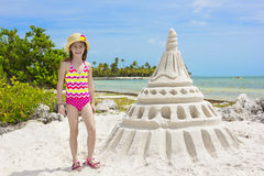 Giant Sandcastle on a tropical beach Royalty Free Stock Photo