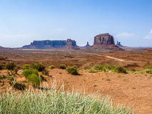 Giant sandstone formation in the Monument valley Stock Image