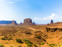 Giant sandstone formation in the Monument valley Royalty Free Stock Photography