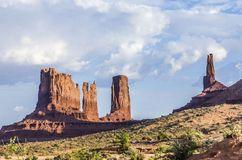 Giant sandstone formation in the Monument valley Stock Photos