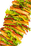 Giant sandwich isolated Royalty Free Stock Image