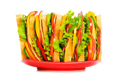 Giant sandwich isolated Stock Images