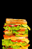 Giant sandwich isolated Royalty Free Stock Photography