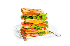 Giant sandwich isolated Stock Photography