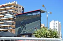 Giant Screen At La Vuelta España Royalty Free Stock Photo