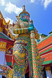 Giant Sculpture Demon Guardian at Grand Palace, Bangkok, Thailand Stock Photos