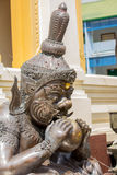 Giant  sculpture stone in thailand temple Bangkok Stock Images