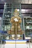 Giant sculpture in Suwanaphum airport Bangkok Stock Image