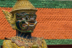 Giant sculpture. In Wat Phra Kaew Temple, Thailand Stock Photos