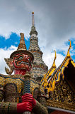 Giant sculpture in Wat Phra Kaew Temple Royalty Free Stock Image