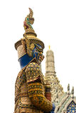 Giant sculpture in Wat Phra Kaew Temple Royalty Free Stock Photography