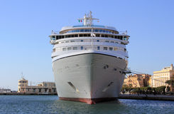 A giant of the sea. Cruise ship docked at the port of Trapani - Sicily Royalty Free Stock Photos