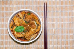 Giant sea catfish curry Stock Images