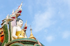 Giant Seated meditation Buddha at Wat Phra That Su Thon Mongkhon Stock Photography
