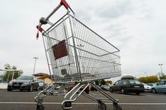 Giant shopping cart Stock Photo