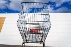 Giant shopping cart Royalty Free Stock Image