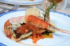 Giant shrimp meal Royalty Free Stock Photo