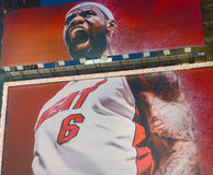 Giant sign of Lebron James Stock Images