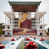 The giant  Sitting Buddha statue Royalty Free Stock Images