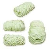 Giant size green meringue Stock Image