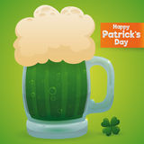 Giant Size Premium Limited Edition Green Beer for Patrick's Day, Vector Illustration Stock Photography
