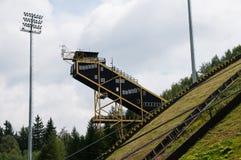 Giant ski bridge Royalty Free Stock Photo