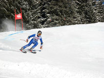 Giant Slalom in Elm stock image