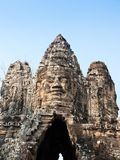 Giant smiling face at Angkor Wat Royalty Free Stock Photography