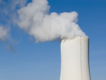 Giant smoke stack. Of a power plant Stock Photos