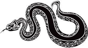 Giant snake tatoo icon Royalty Free Stock Image
