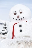 Giant Snowman. This is a giant snowman made by the people of crested butte Royalty Free Stock Image