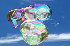 Giant soap bubble rainbow colors Stock Image