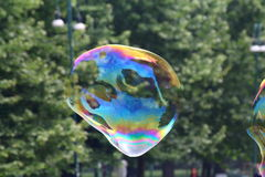 Giant soap bubbles Royalty Free Stock Photography