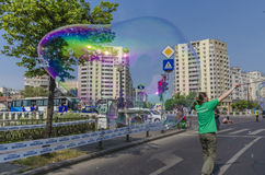 Giant soap bubbles Stock Image