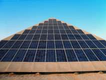 Giant Solar Panel. Collector in a technologic park from Majorca Royalty Free Stock Photos