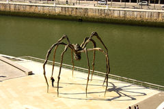The giant spider. 'Mama', the artist Louise Bourgeois. the Guggenheim Museum, Bilbao, Euskadi, Spain. Basque Country Royalty Free Stock Photos