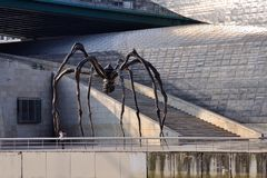 Giant Spider. Bronze sculpture of Spider named 'Mom' by the artist Louise Bourgeois Royalty Free Stock Images