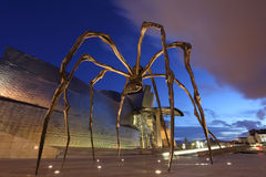 Giant spider sculpture at Guggenheim Museum Royalty Free Stock Images