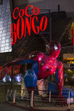 Giant Spiderman figure in front of Coco Bongo, Cancun Royalty Free Stock Photos