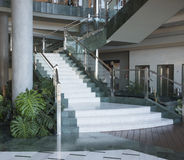 Giant stairs in luxury building Royalty Free Stock Photography