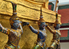 Giant Temple Wat Phra Kaew Bangkok Thailand Royalty Free Stock Images