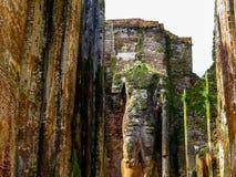 Giant standing Buddha statue in Polonnaruwa, Sri Lanka Royalty Free Stock Images