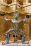 Giant statue. Temple of the Emerald Buddha (Wat Phra Kaew), Bangkok, Thailand Stock Image