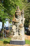 Giant Statue Bali stye at Black House Stock Photos
