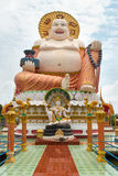 Giant statue Big Buddha in the temple Wat Plai Laem Stock Photography