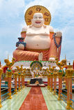Giant statue Big Buddha in the temple Wat Plai Laem Royalty Free Stock Photos